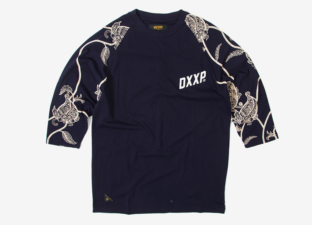 10Deep Sixpes 3/4 Sleeve T Shirt - Navy