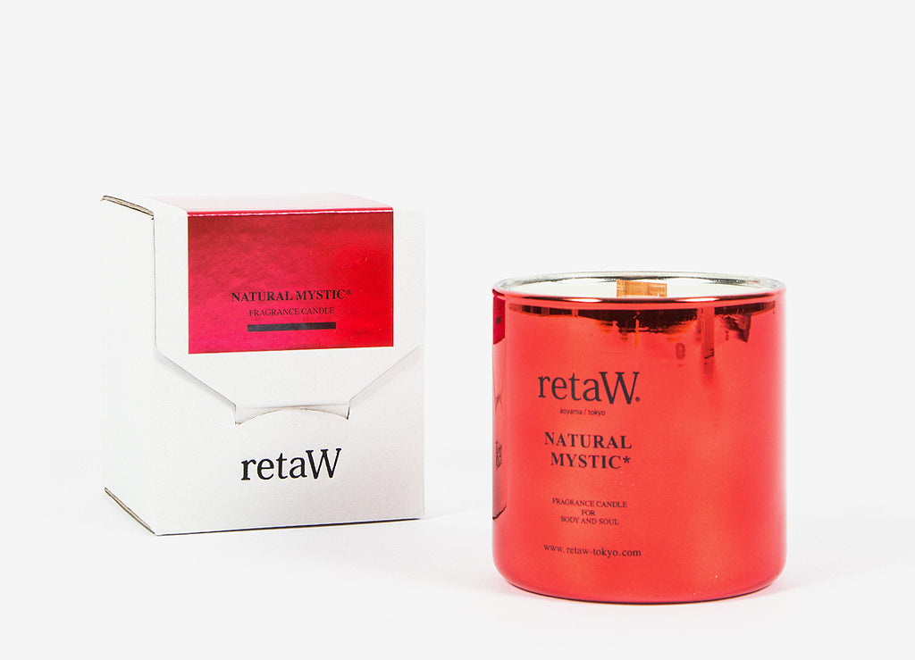 retaW Fragrance Candle / Metallic Series - Natural Mystic*