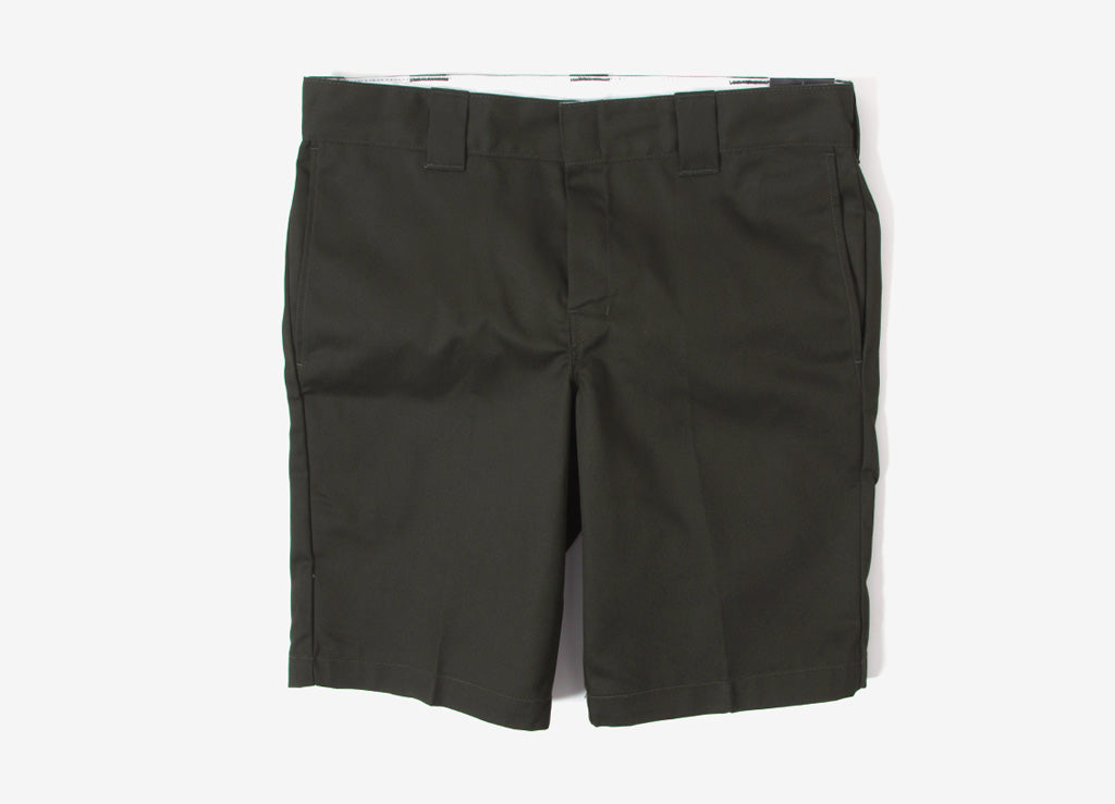 Dickies 11 Inch Slim Straight Work Shorts - Olive Green