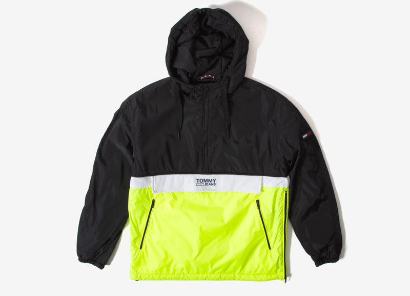 Tommy Jeans Colorblock Popover Jacket - Tommy Black/Multi