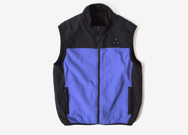 HUF Borough Reversible Fleece Vest - Black