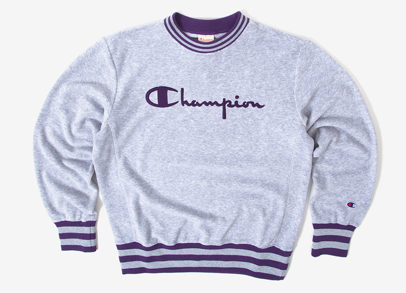 Champion Reverse Weave Vintage Terry Crewneck Sweatshirt - Grey