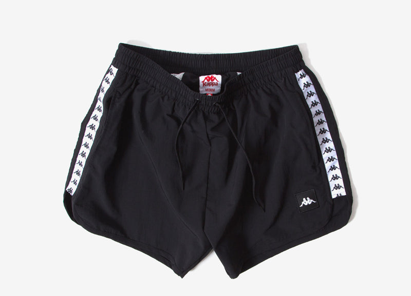 Kappa Authentic Agius Shorts - Black/White