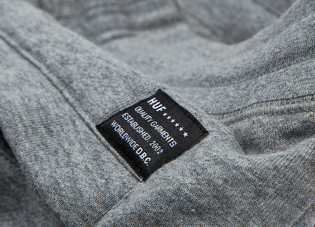 HUF Classic H Fleece Shorts - Heather Grey