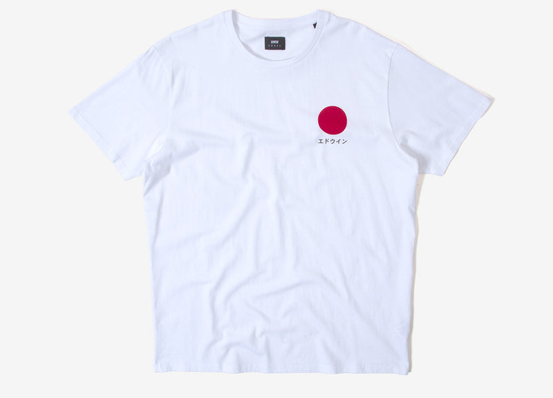 Edwin Japanese Sun T Shirt - White Garment Washed