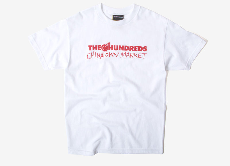 The Hundreds x Chinatown Market Bar Logo T Shirt - White