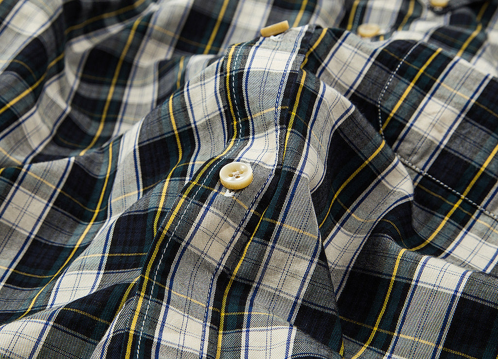 Portuguese Flannel Bardo Shirt - White/Green
