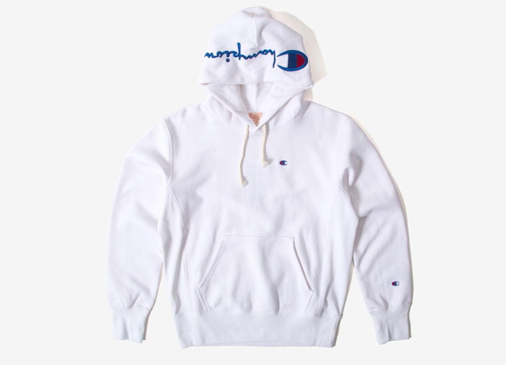 Champion Reverse Weave Embroidered Pullover Hoody - White
