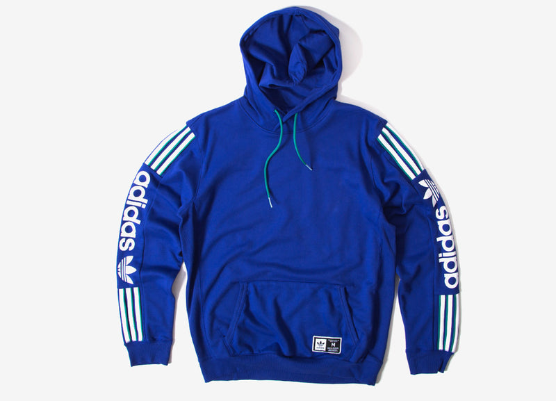 adidas Originals QZR Fleece Pullover Hoody - Action Blue/White