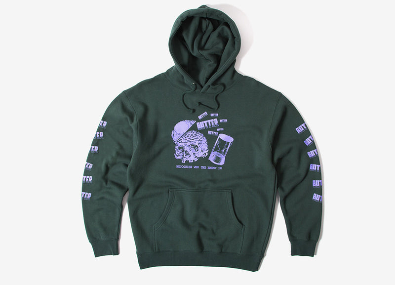 Butter Goods Enemy Pullover Hoody - Forest