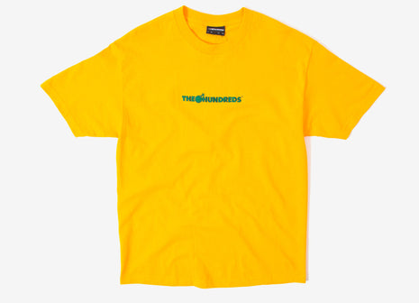 The Hundreds Bar Logo Embroidered T Shirt - Gold