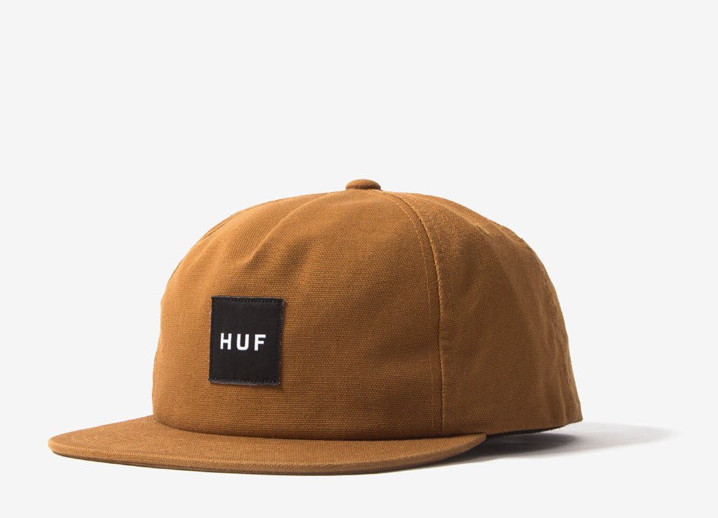 HUF Wash Canvas Box Logo Snapback Cap - Caramel