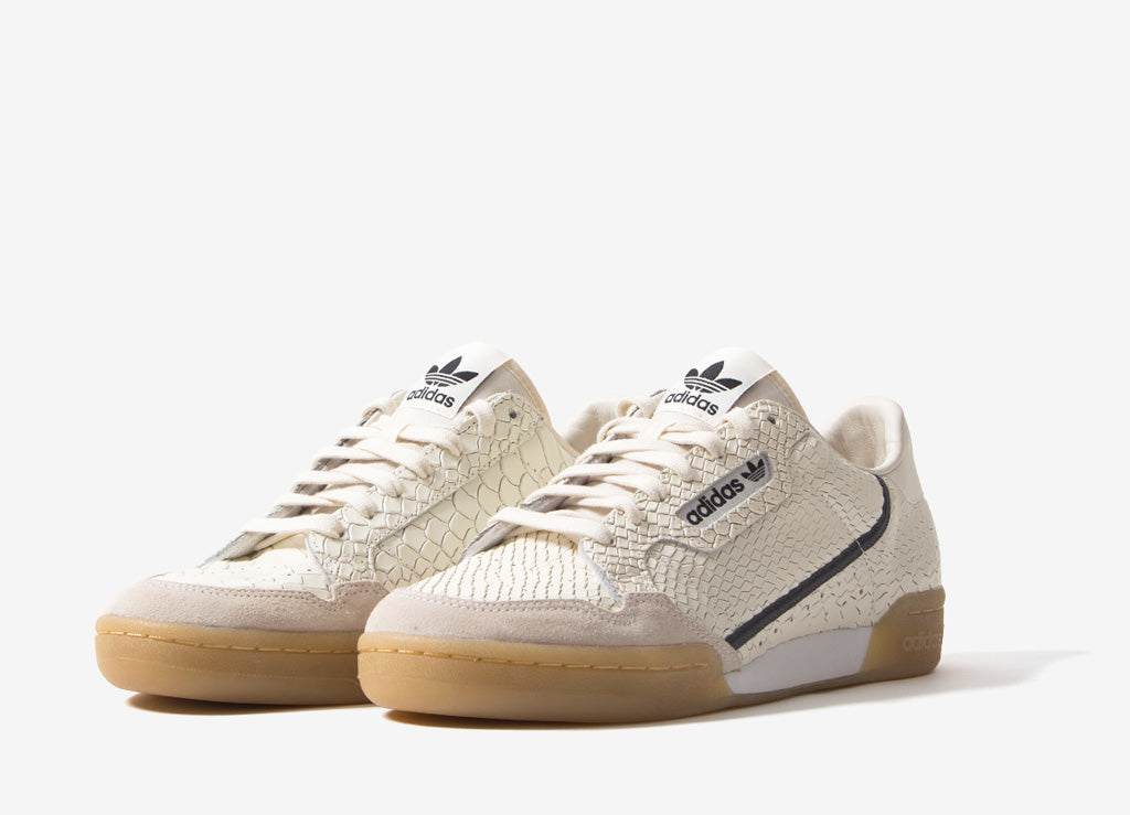 adidas Originals Continental 80 Shoes - White/Carbon/Grey Five