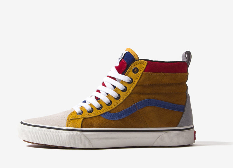 Vans Sk8-Hi MTE Shoes - Sundan Brown/Mazarine Blue