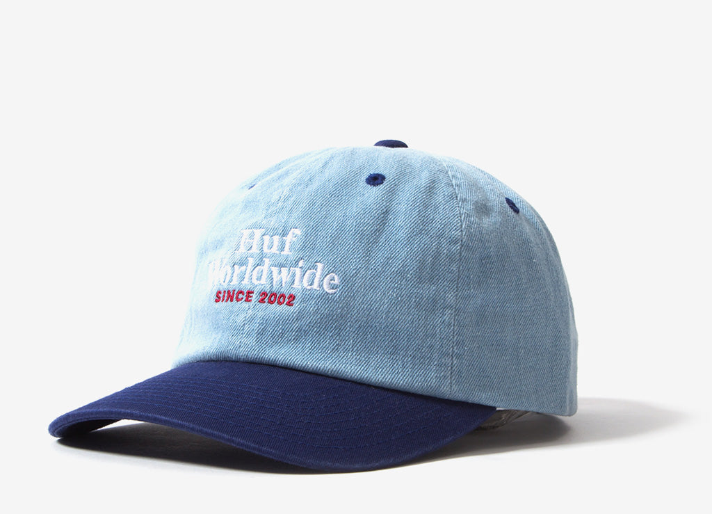 HUF Worldwide Denim 6 Panel Cap - Twilight Blue