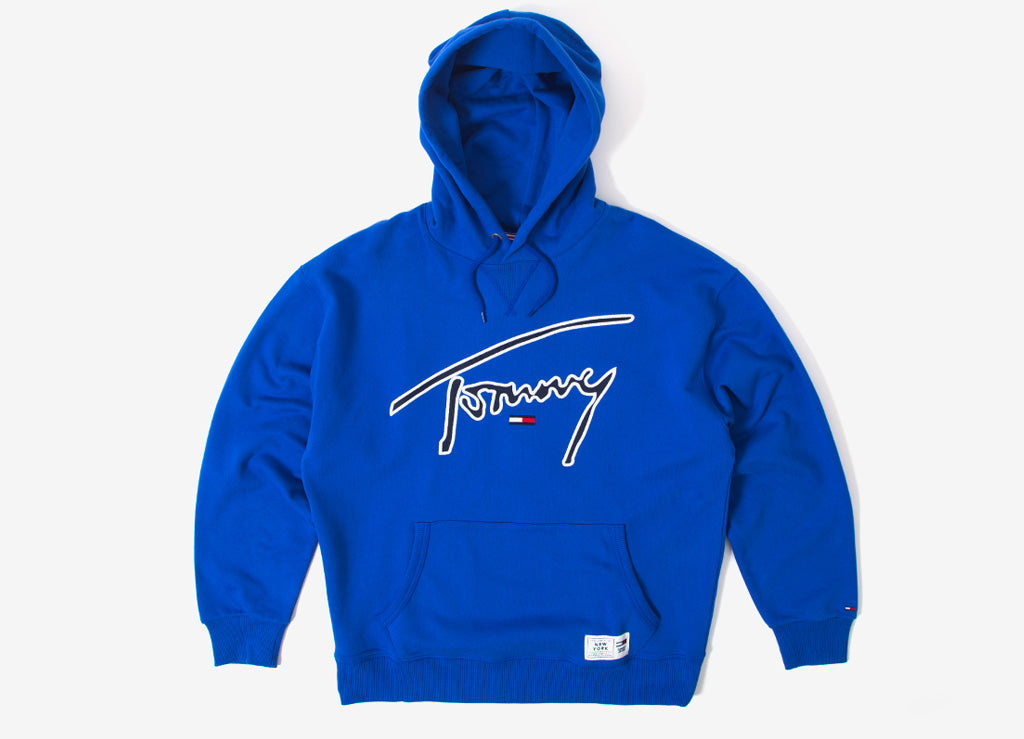 77aa49722 Tommy Jeans Signature Pullover Hoody | Tommy Jeans Signature Collection |  The Chimp Store