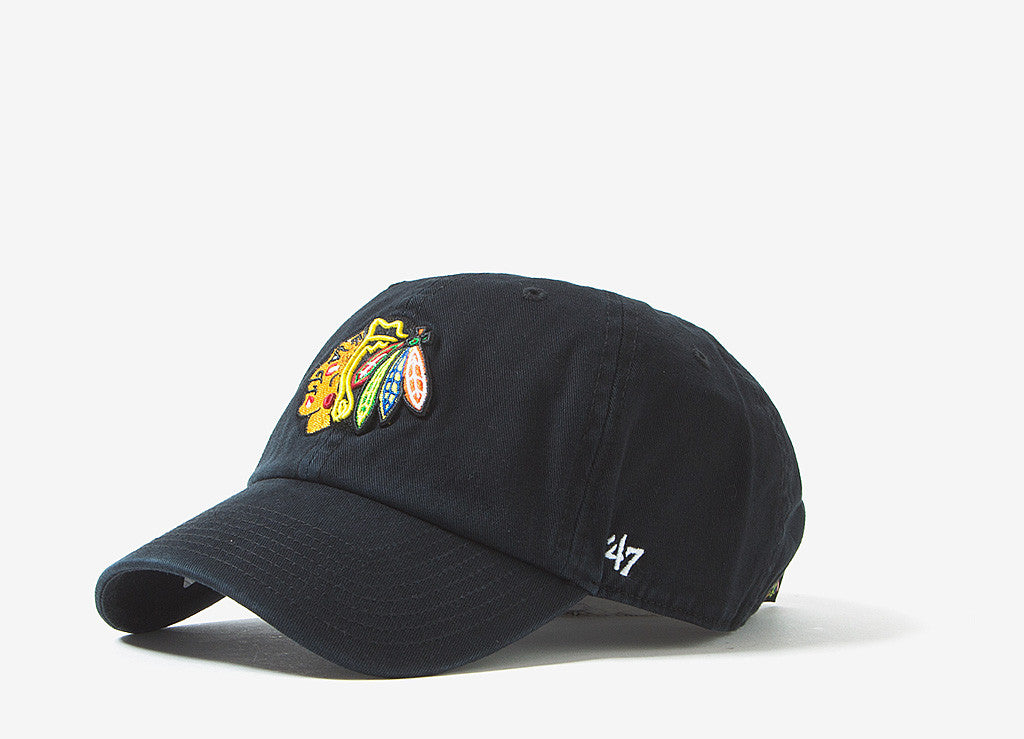 47 Brand Chicago Blackhawks Dad Cap - Black