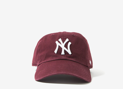 47 Brand MLB New York Yankees 6 Panel Cap - Dark Maroon