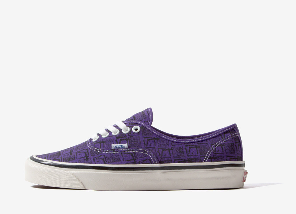 Vans Authentic 44 DX 'Anaheim Factory' Shoes - OG Bright Purple/Square Root