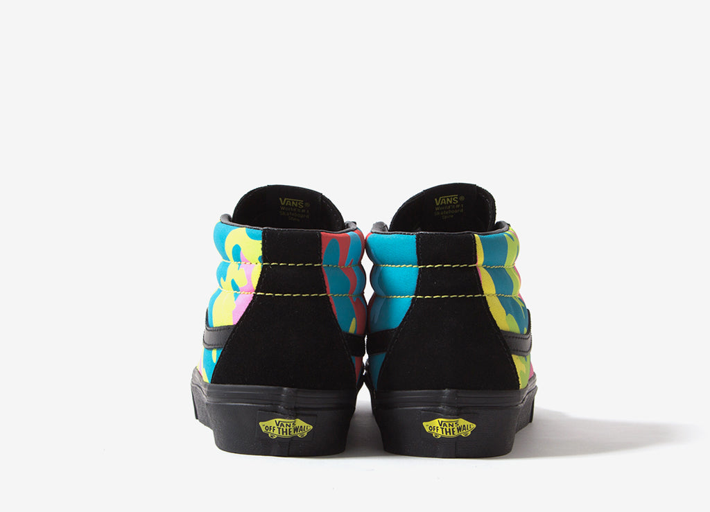 Vans Sk8-Mid Reissue (Neon Camo) Shoes - Multi Camo Black 1489e310b