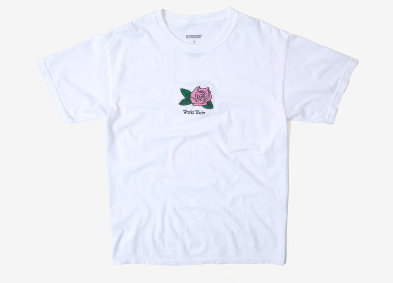 Butter Goods Rosa Pigment Dyed T Shirt - White