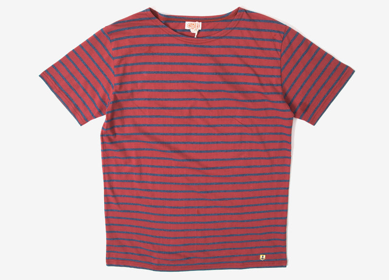 Armor Lux Sailor T Shirt - Red Manganese/Dark Blue