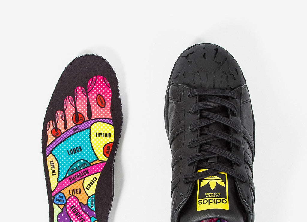 adidas Originals x Pharrell Superstar Shoes - CBlack/CBlack/Yellow (S83347)