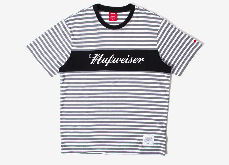 HUF x Budweiser Knit Striped T Shirt - Black