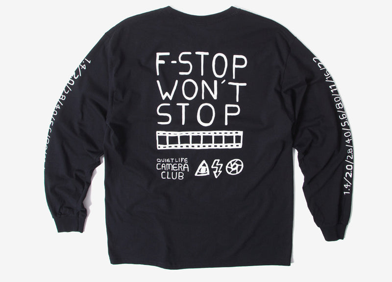 The Quiet Life F Stop Long Sleeve T Shirt - Black