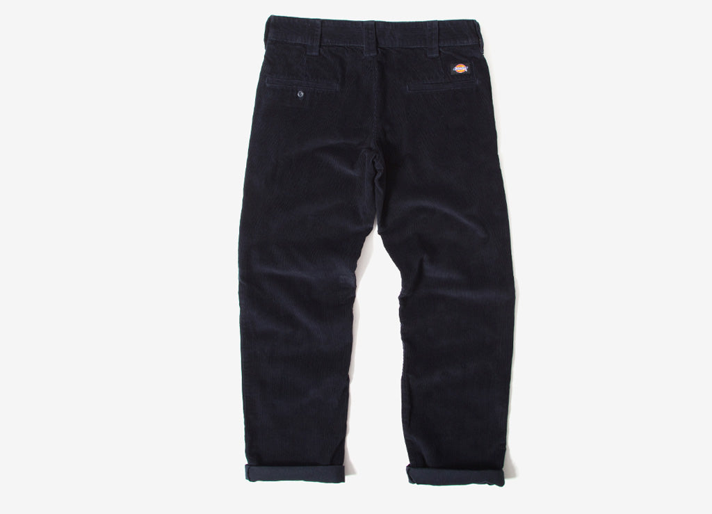 Dickies 873 Cord Slim Straight Work Pant Trousers - Dark Navy