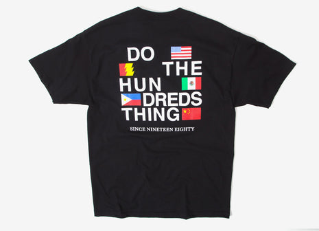 The Hundreds Love Hate T Shirt - Black