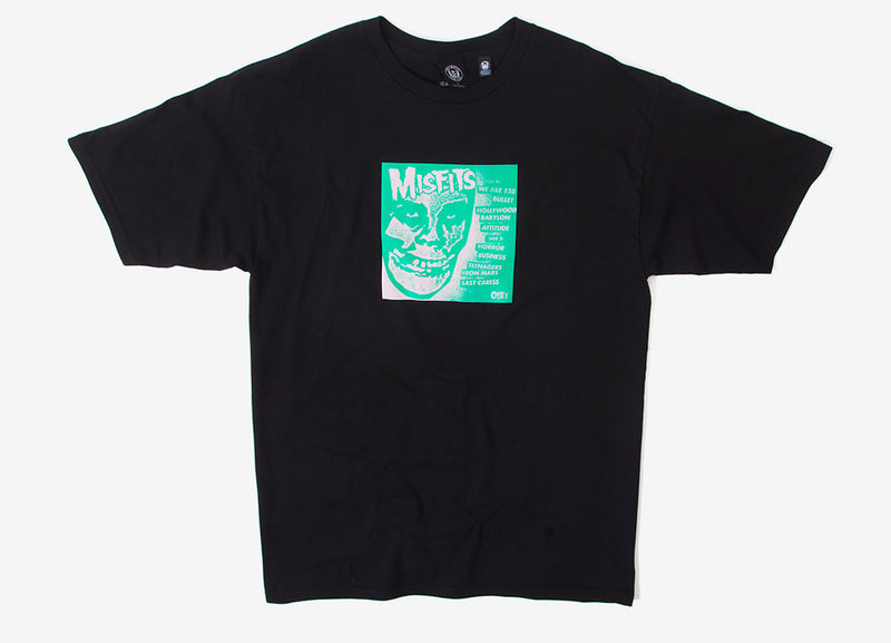 "Obey x The Misfits 7"" Cover T Shirt - Black"