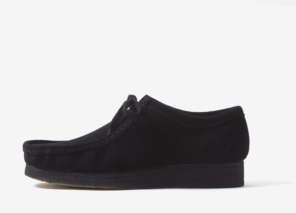 Clarks Originals Wallabee Shoes - Black Suede