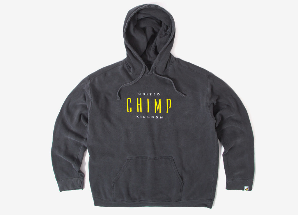 Chimp United Pigment Dyed Pullover Hoody - Pepper