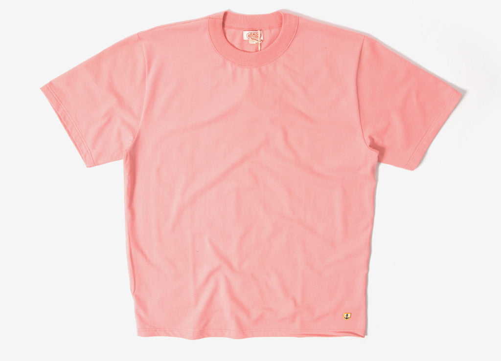 Armor Lux Basic T Shirt - Salmon Pink