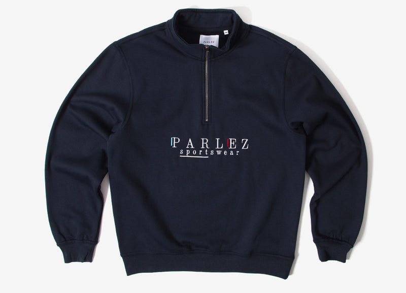 Parlez Wear 1/4 Zip Sweatshirt - Navy