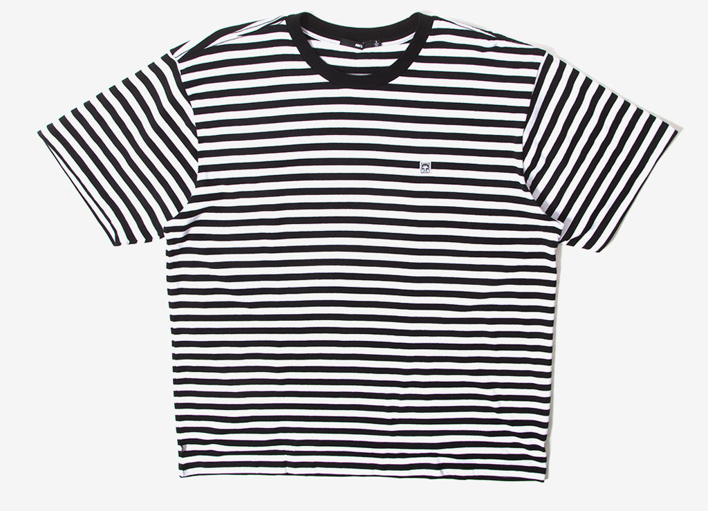 Obey Eighty Nine Icon Box Striped T Shirt - Black/Multi