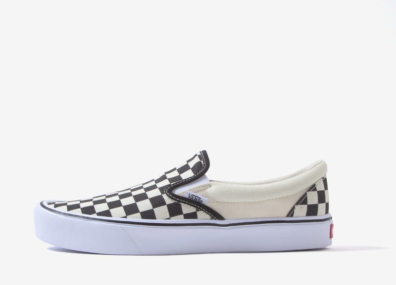 Vans Slip-On Checkerboard Lite Shoes - Black/White