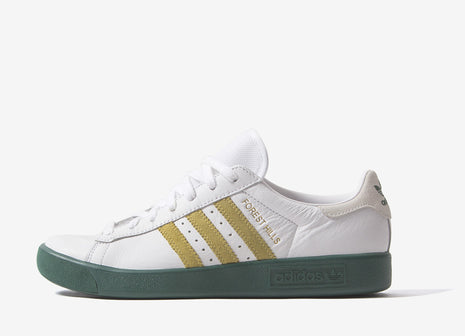 adidas Originals Forest Hills Shoes - Footwear White/Gold Metal/Collegiate Green