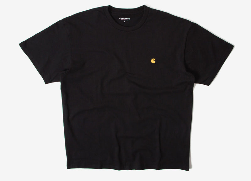 Carhartt Chase T Shirt - Black/Gold