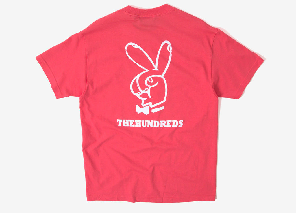 The Hundreds x Playboy Peace Sign T Shirt - Coral