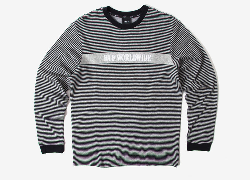 HUF Latitude Long Sleeve Knit T Shirt - Black