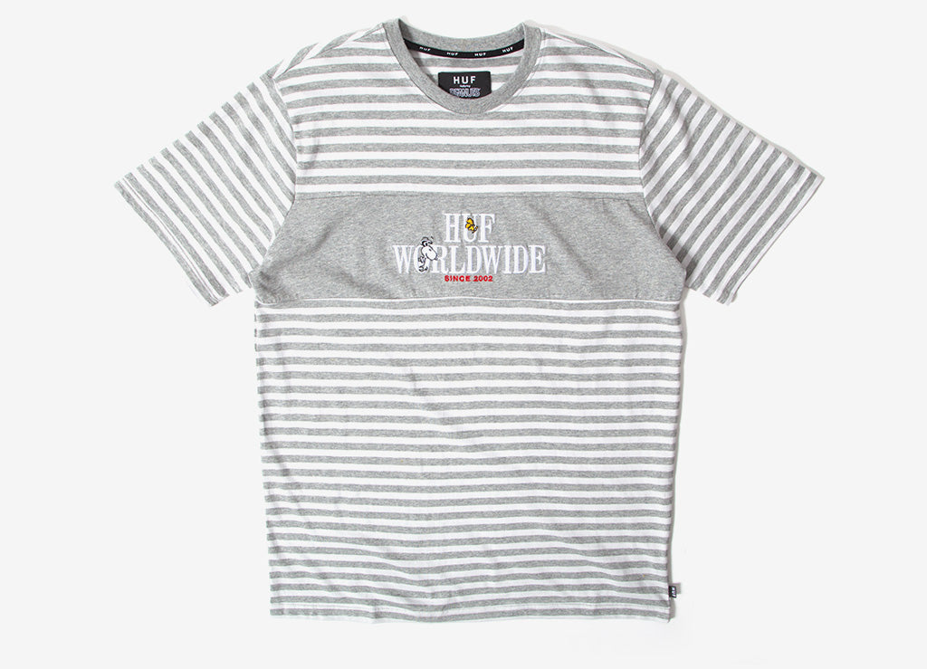 HUF x Peanuts Party Animal Knit T Shirt - Grey