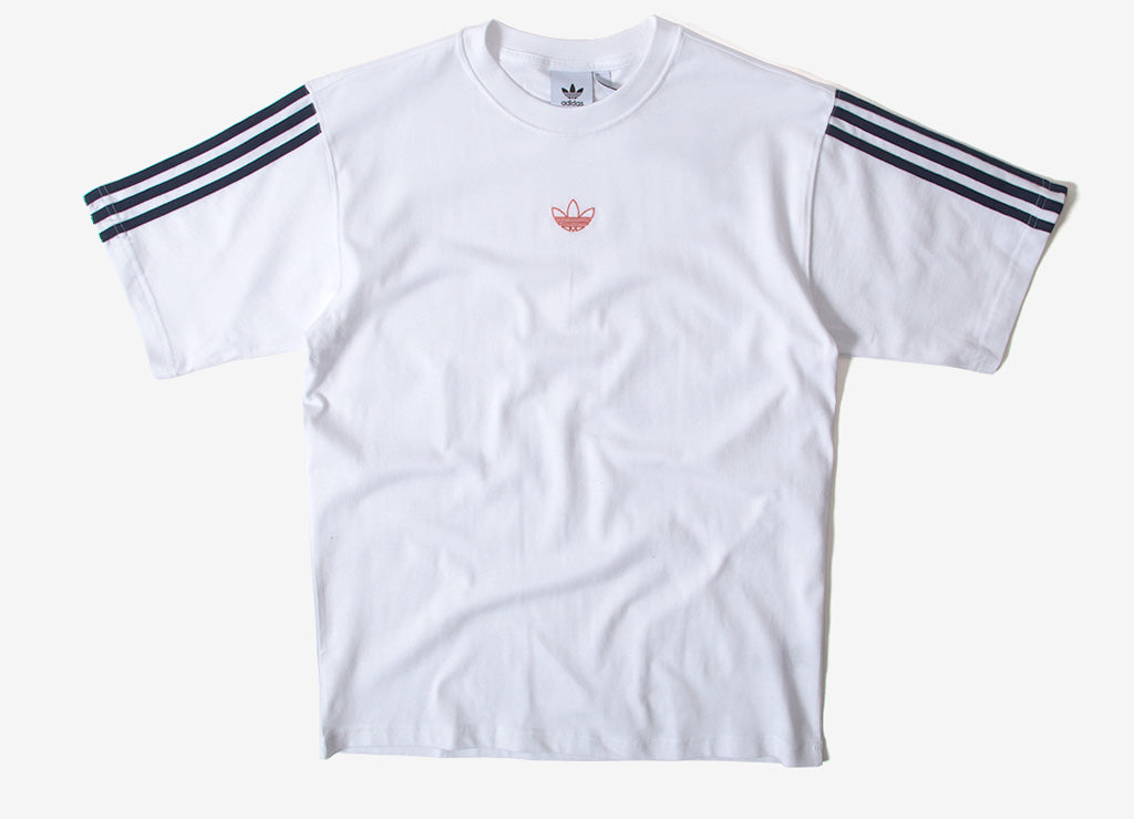 adidas Originals Floating T Shirt - White/Collegiate Navy