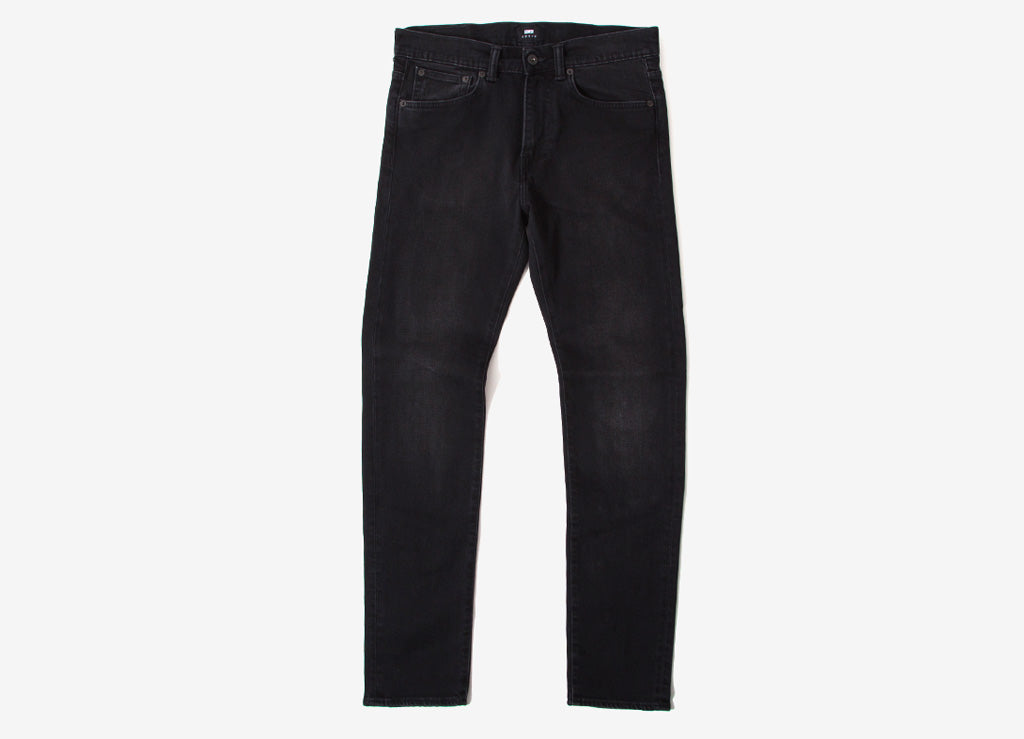 Edwin ED-80 CS Power Black Slim Tapered Jeans - Black Mineral Wash