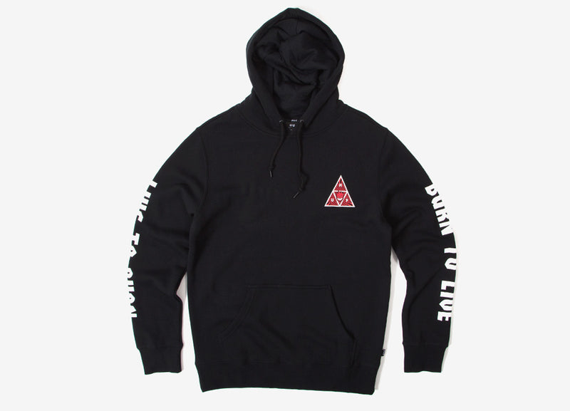 HUF x Spitfire Triangle Pullover Hoody - Black