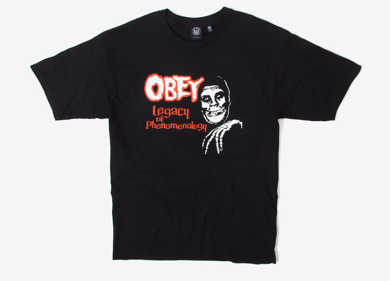 Obey x The Misfits Legacy T Shirt - Black