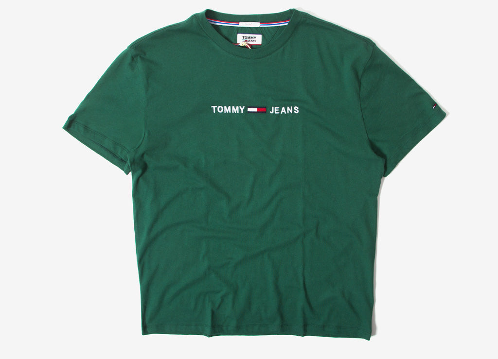5d2ad85c Tommy Jeans Small Text Embroidered T Shirt | Tommy Jeans Fall Range | The  Chimp Store