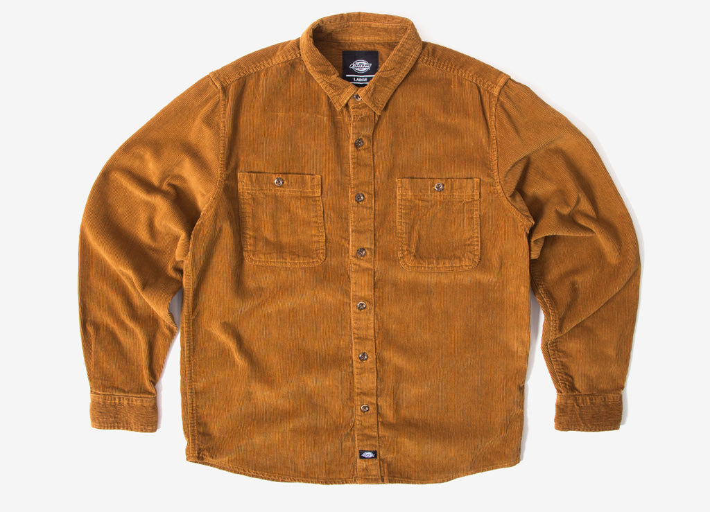 Dickies Arthurdale Cord Shirt - Brown Duck