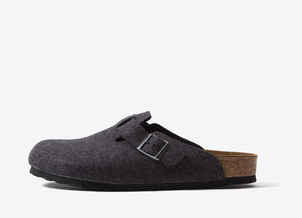Birkenstock Boston Wool Felt Clog - Anthracite